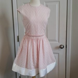 New Carven Pink and White Sleeveless Spring Dress